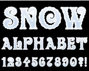 Frozen font.