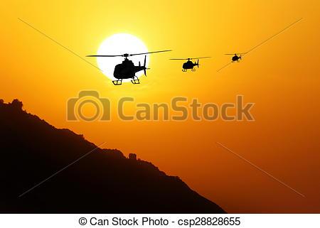 Stock Bilder von Hubschrauber, gegen, sonne.