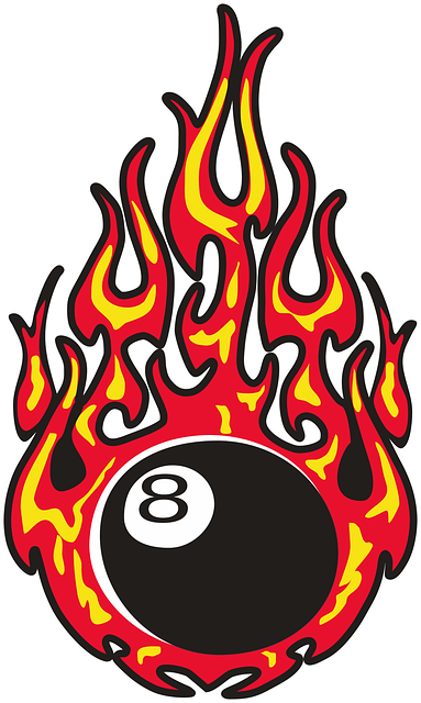 Free vector graphic: Eightball, Fire, Burning.