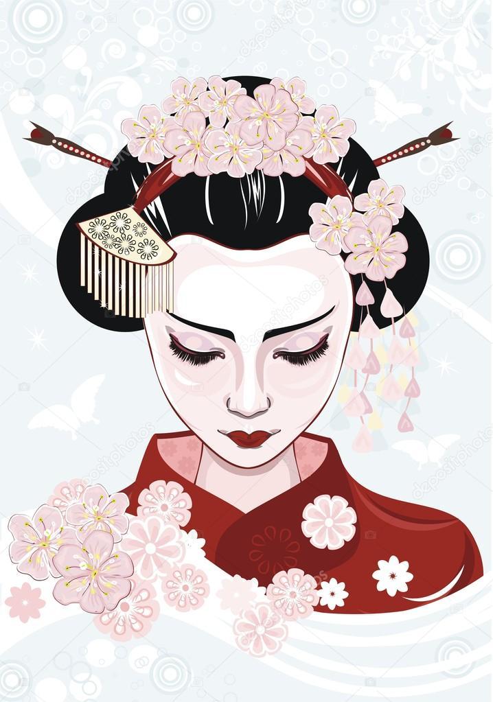 Geisha — Stock Vector © torishaa #13132455.