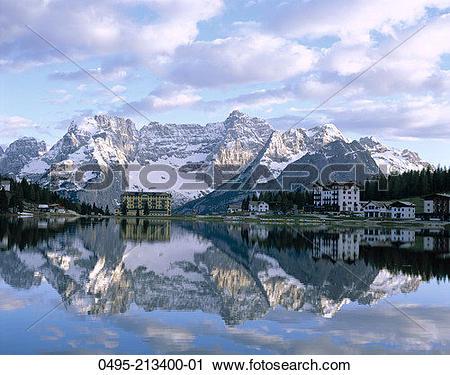 Stock Photography of Italy, Dolomites Mountains (Dolomiti.