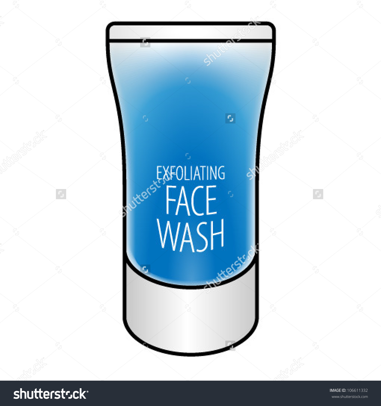Face wash bottle clipart.