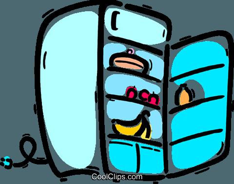 Fridges or Refrigerators Royalty Free Vector Clip Art.