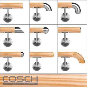 Fichte Holzhandlauf Ø 42,4 mm Holz Handlauf Stange Treppe Geländer.