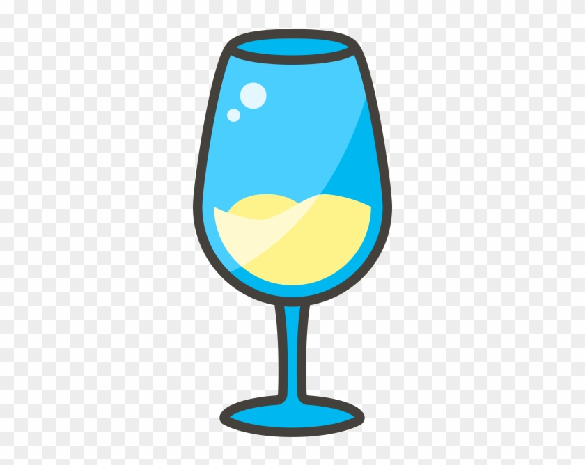 White Wine Glass Emoji Icon.