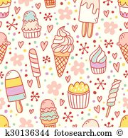 Gelateria Clip Art Illustrations. 9 gelateria clipart EPS vector.