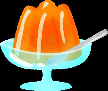 Gelatina de naranja.