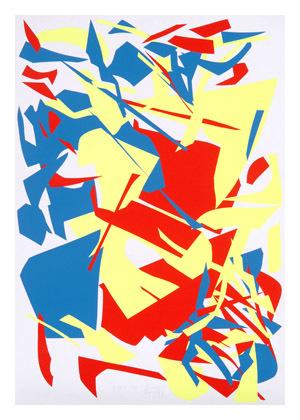 Gelb Rot Blau. Aus einer Serie von 54 Messerschnitten, Nr. 47.
