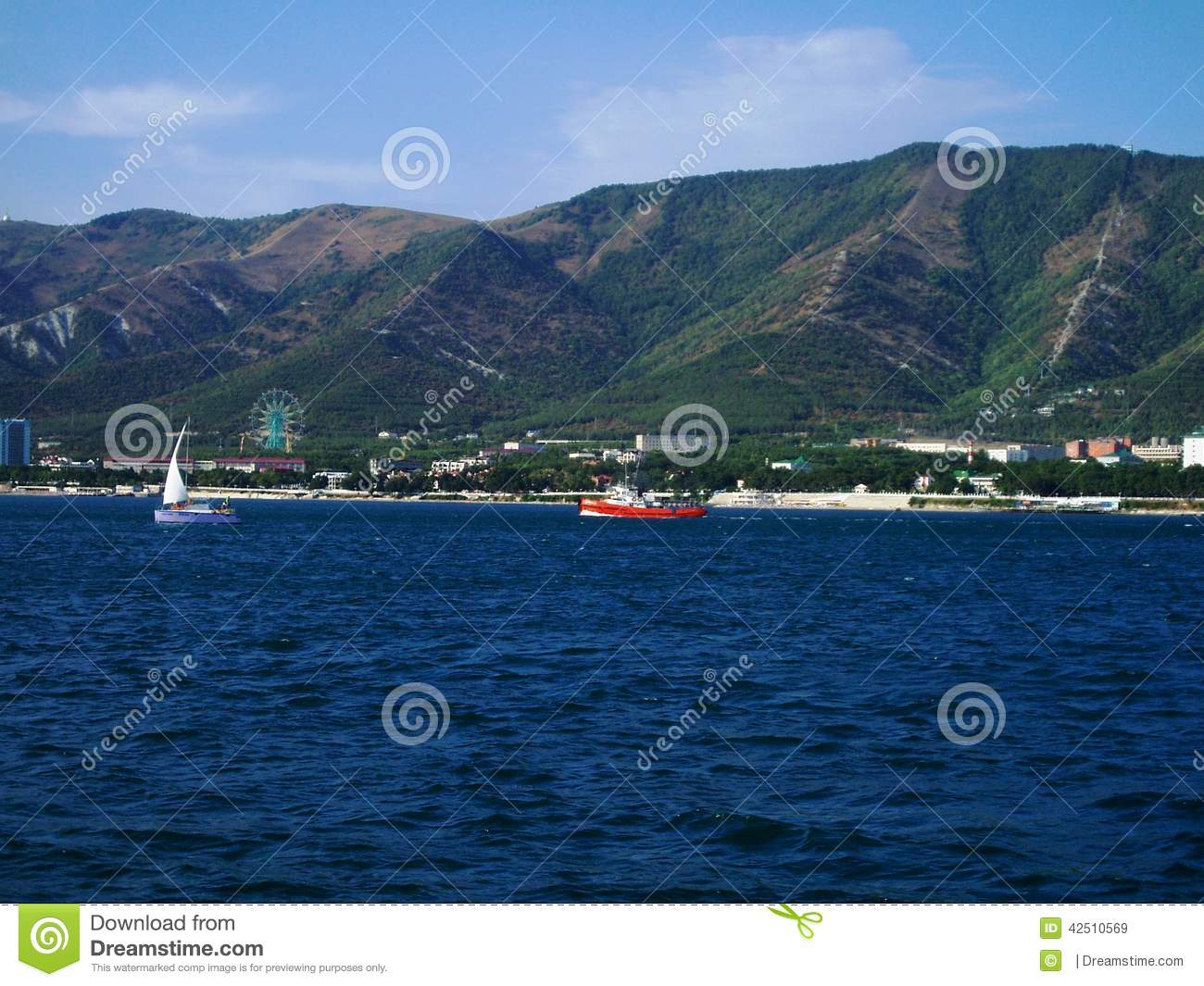The Black Sea, The City Of Gelendzhik, Russia Stock Photo.