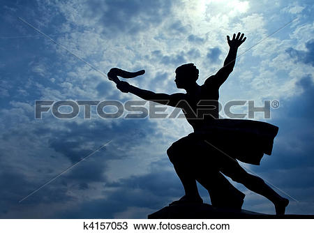 Stock Photo of Statue of torch.