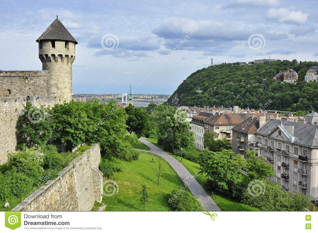 The Gellert Hill From The Castle Hill Editorial Stock Photo.
