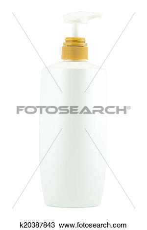 Drawing of White plastic bottles for cosmetic creams, lotions.