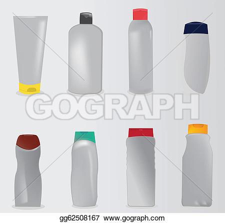 Shower Gels Clip Art.