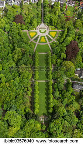 "Stock Photography of ""Aerial view, Berger Park, Gelsenkirchen."