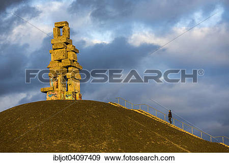Stock Photograph of Halde Rheinelbe, ladder to heaven sculpture.