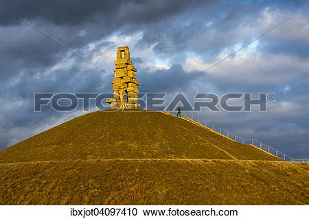 Stock Photography of Halde Rheinelbe, ladder to heaven sculpture.
