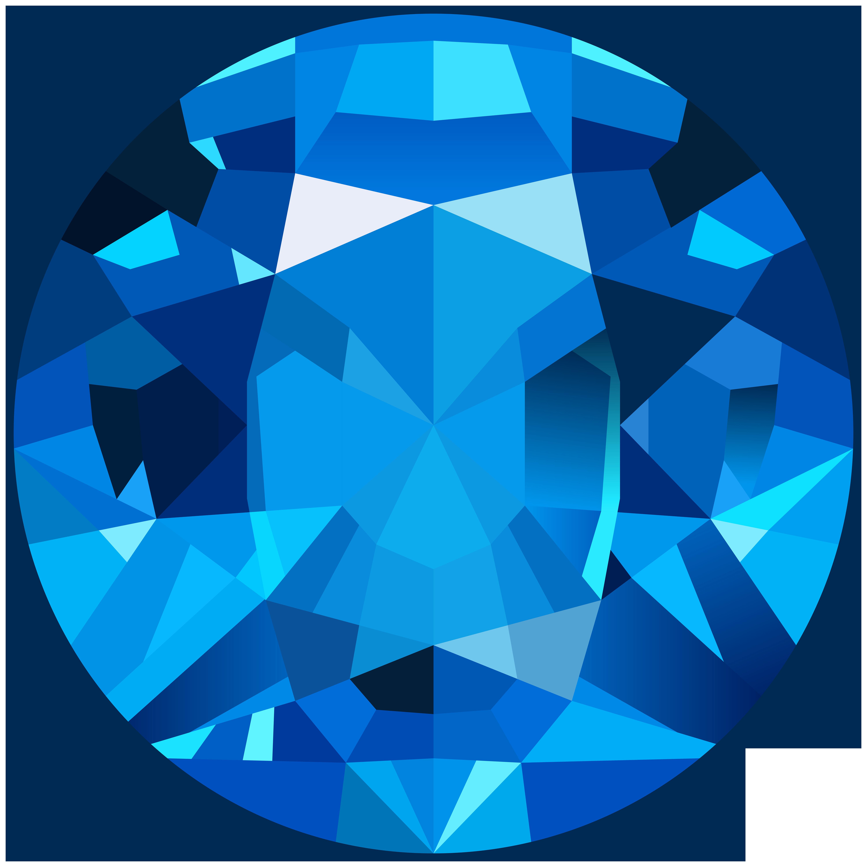 Blue Gem PNG Clip Art Image.