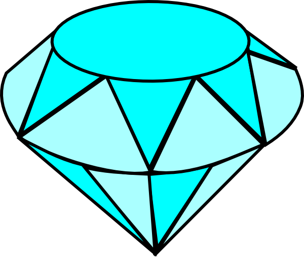 Blue Gems Clipart.