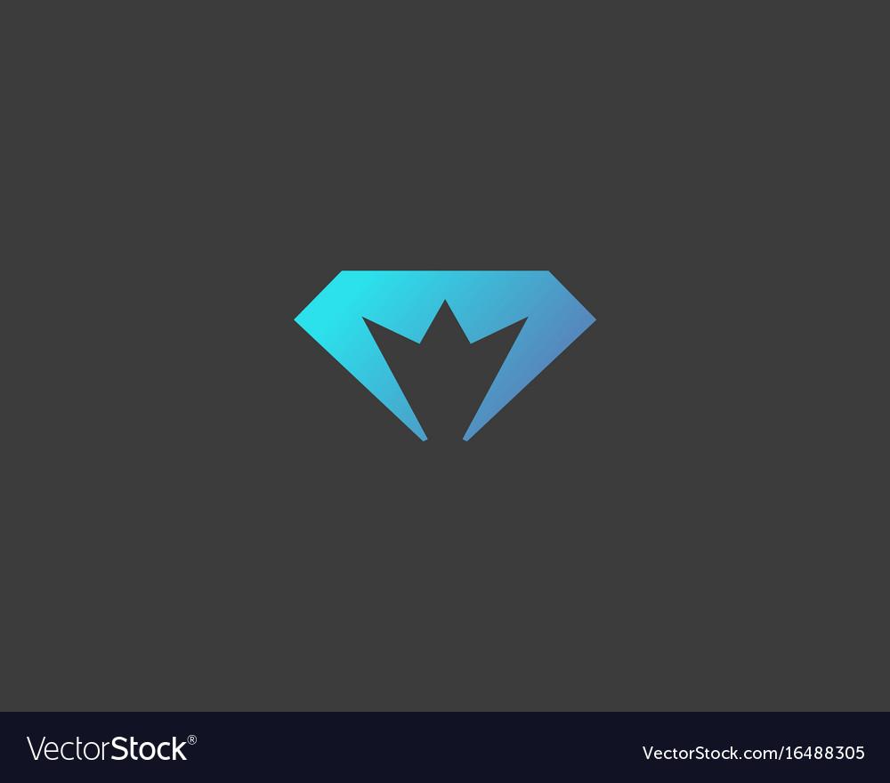 Diamond crown logotype gem king royal logo.