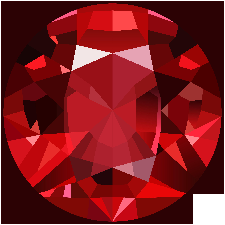 Red Gem PNG Clip Art Image.