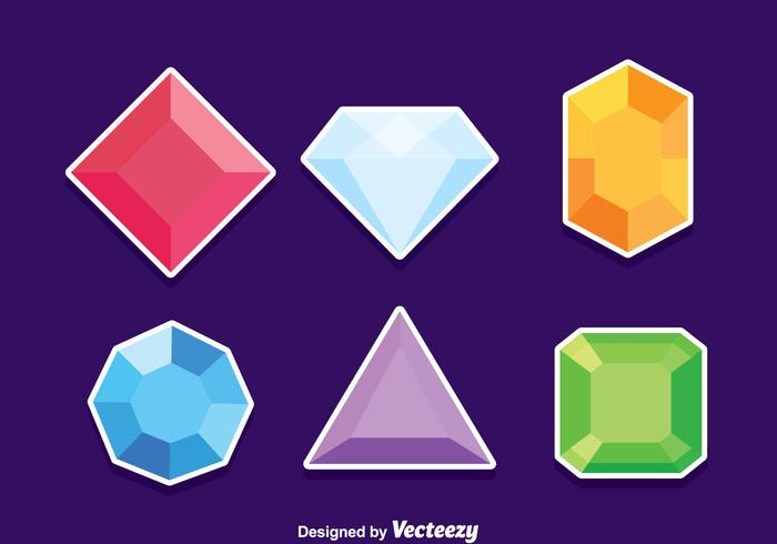 Gem Stone Vector Set.