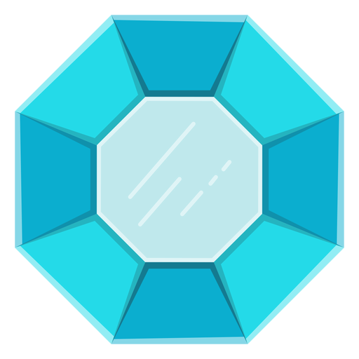 Blue gemstone vector.