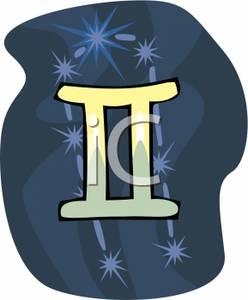 Gemini Symbol With Constellation.
