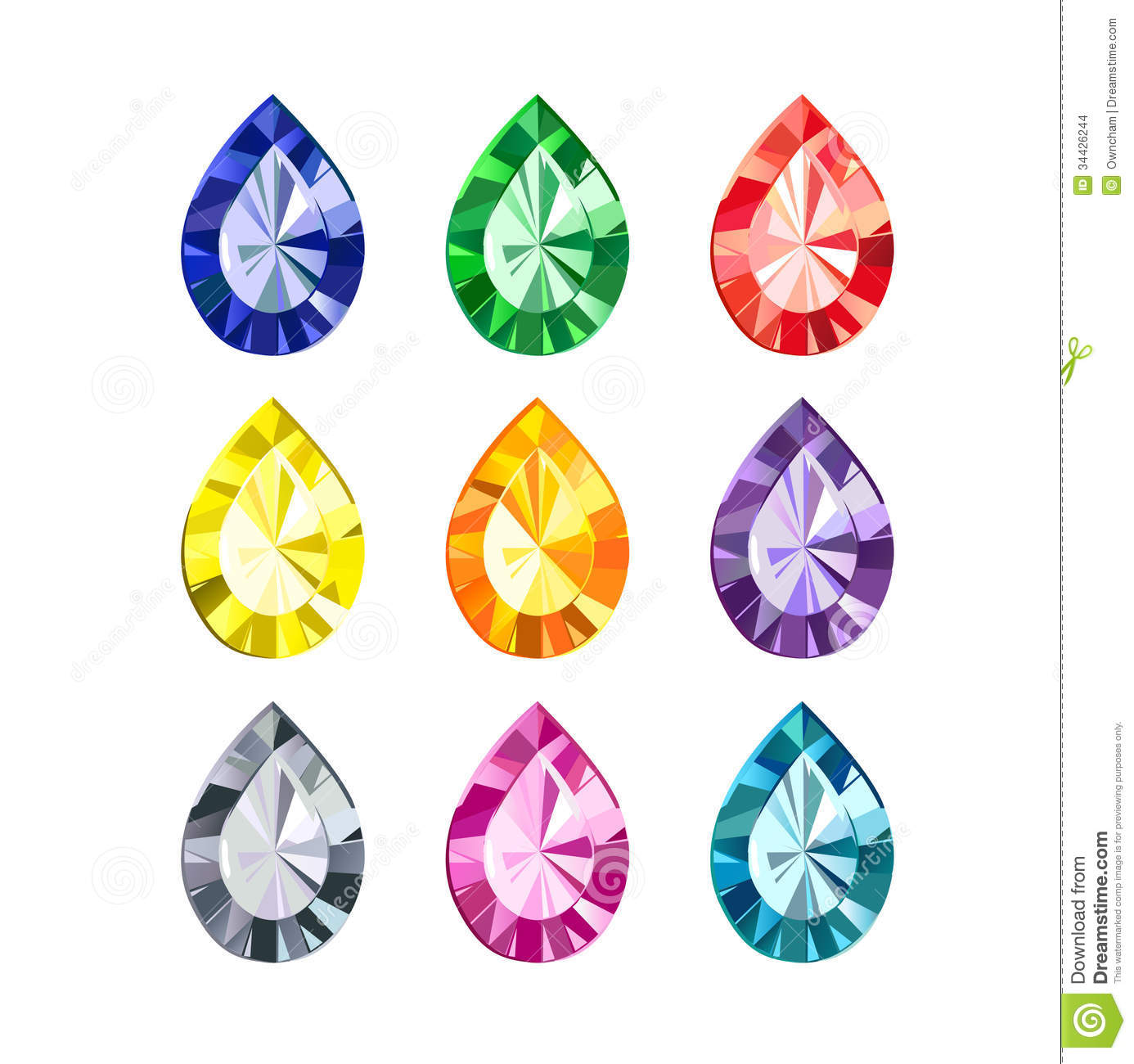 Jewels and gems clipart.
