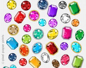 Gems clipart.