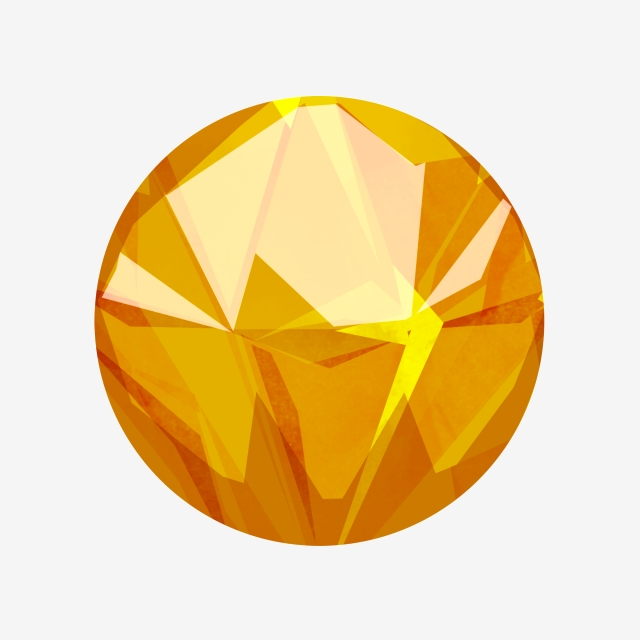 Orange Gemstone Decoration Illustration, Orange Gems, Beautiful Gems.