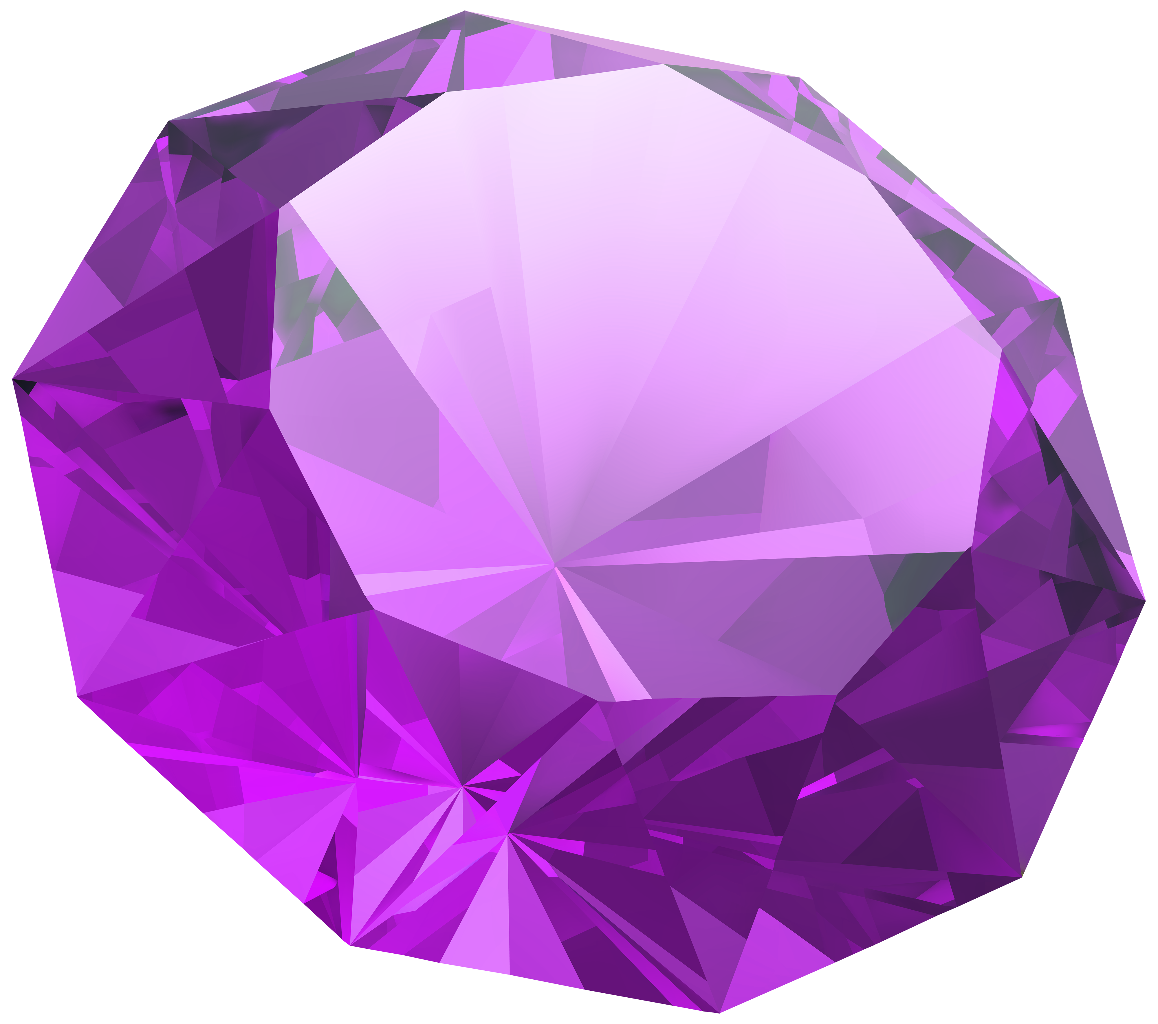 Purple Diamond PNG Clipart.