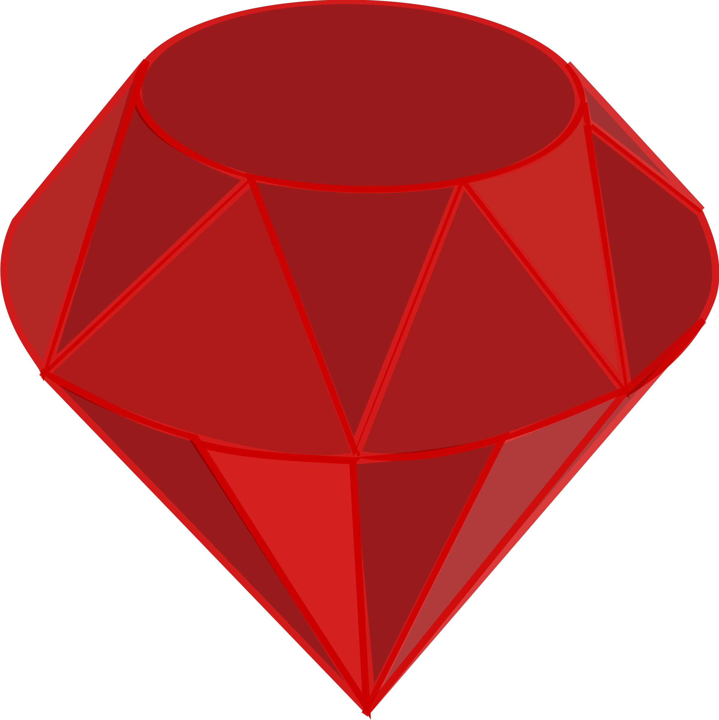 Ruby Gemstone Vector Clipart image.