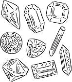 Clipart of Diamonds and gemstones vector frame k16490200.