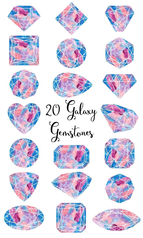 Gemstones clipart \