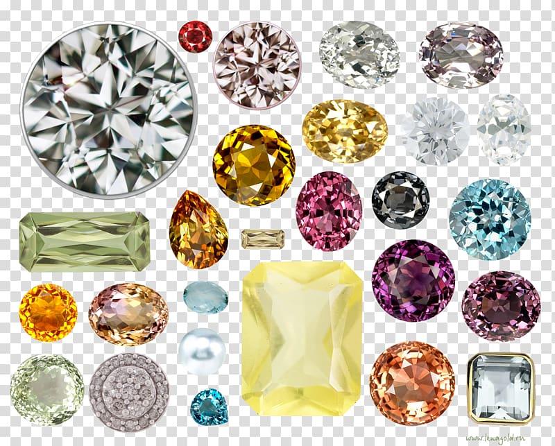 Imitation Gemstones & Rhinestones Mineral Quartz, jewels transparent.