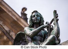 Stock Photography of angel statue at Gendarmenmarkt.
