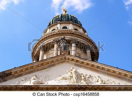 Stock Images of Konzerthaus hall, domme detail, Gendarmenmarkt.