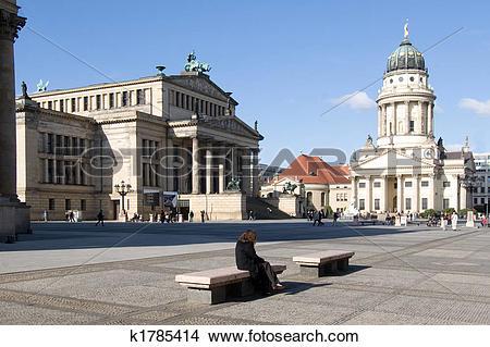 Stock Photo of Gendarmenmarkt Berlin k1785414.