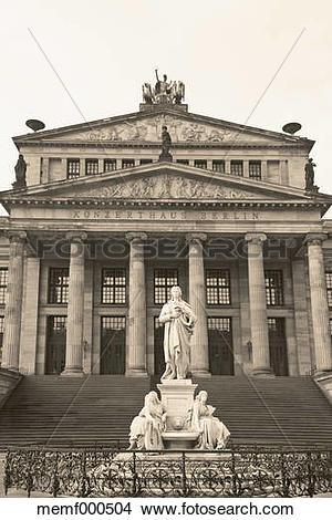 Stock Photo of Germany, Berlin, Gendarmenmarkt, Concert hall and.