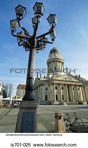 Stock Image of Gendarmenmarkt and Deutscher Dom, Berlin, Germany.
