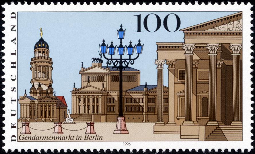 Stamp Gendarmenmarkt (germany).