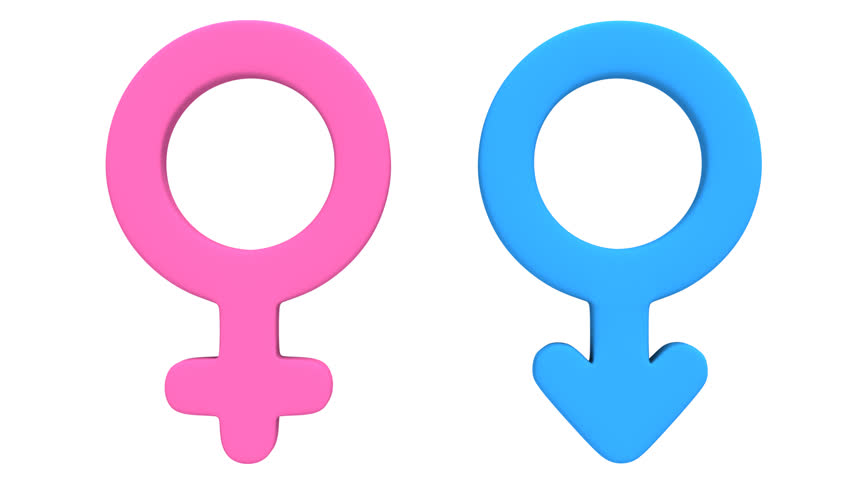 Male and Female Signs Rotate Stock Footage Video (100% Royalty.