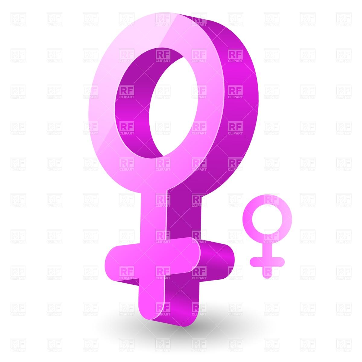 Female gender symbol Stock Vector Image.