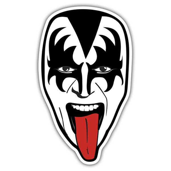 Sticker Kiss Gene Simmons.