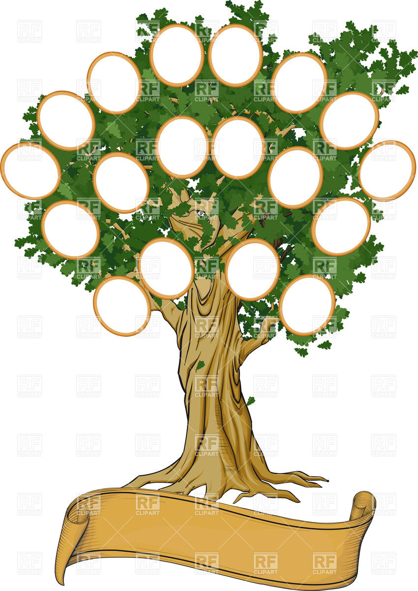 Big Family Tree Clipart.