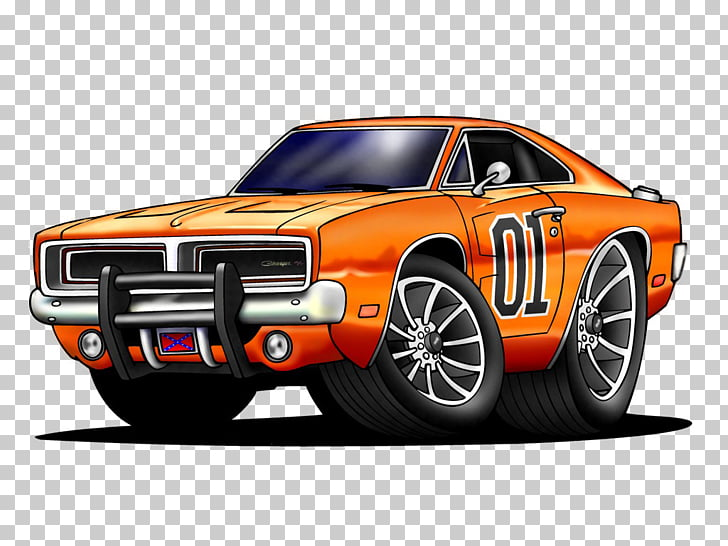 General Lee Muscle car Ford Mustang Dodge Charger (B.