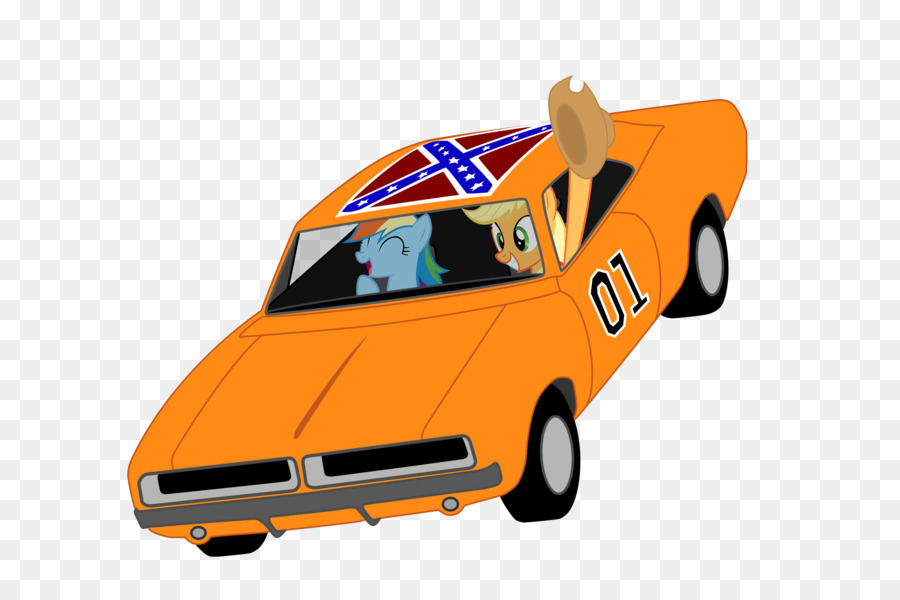 General Lee Bo Duke Car Rainbow Dash Cli #205690.