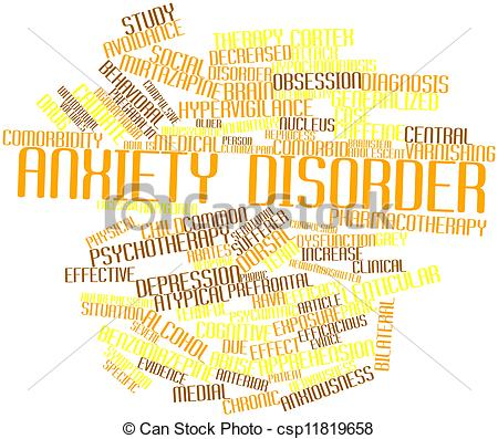 Generalized Anxiety Disorder Clip Art.