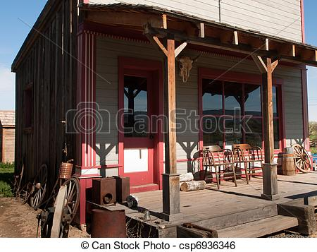 Old Western General Store Clipart.