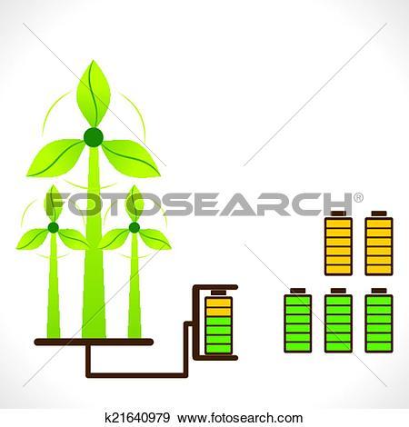 Clip Art of renewable energy generate concept k21640979.